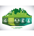 eco sustainibility vector image