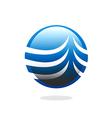 globe sphere communication business logo vector image