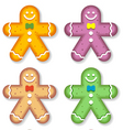gingerbread men vector image vector image