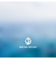 Abstract blue sea background vector image
