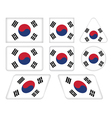 buttons with flag of South Korea vector image