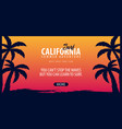 california surfing graphic with palms surf club vector image