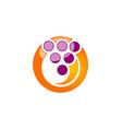 circle dot abstract technology logo vector image