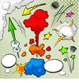 Comic book design vector image