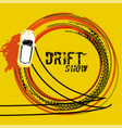 drift show image vector image