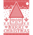 nordic style gingerbread house vector image