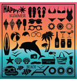 Summer beach set vector image