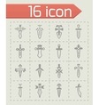 Sword icon set vector image