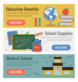 three banner for education vector image