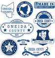 Oneida county New York vector image