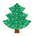 triangular tree vector image vector image