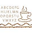 coffee alphabet vector image vector image
