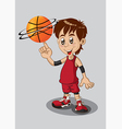 Basketball Player Isolated on White vector image