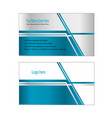 city sky line business card easy editable vector image