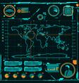 HUD navigation map screen elements vector image
