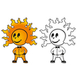 sunny man vector image