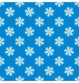 White snowflakes seamless pattern vector image