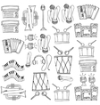 Music tools doodles theme vector image