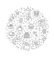 E-commerce concept outline design vector image