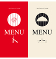 Two Menu for restaurant vector image vector image