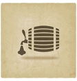 beer barrel old background vector image