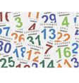 Sheets of a calendar vector image vector image
