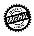 Authentic original product stamp vector image