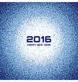 Blue New Year 2016 Snow Flake Background vector image