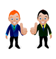 business boys vector image