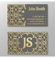 Business card template gold arabic pattern vector image