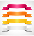 colored decorative arrow ribbons banners vector image