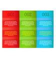 infographics - three color vertical panels vector image