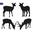 silhouettes of deer vector image