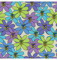 seamless pattern with large flowers vector image