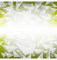 green crystal pattern vector image
