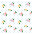 vintage seamless pattern with colorful roses on vector image