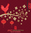2017 Chinese New YearYear Of The Rooster vector image