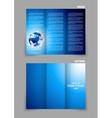 Tri-fold brochure vector image vector image