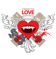 I want to love vector image