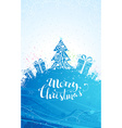 Blue Christmas tree background vector image