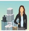 businesswoman human resources business icon vector image