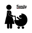 family silhouette vector image