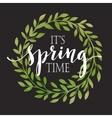 Floral Spring wreath on a blackboard vector image