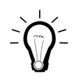 isolated light bulb icon vector image
