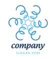 logo blue plants vector image