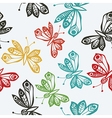 Romantic butterfly seamless pattern vector image