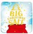 Santa Claus bag with big christmas sale vector image
