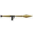 Single bazooka made of steel vector image