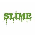 Slime word isolated on white background vector image