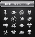UFO icon set vector image